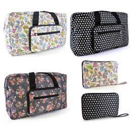 BB0121B Folding printed travel bag