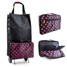 BB0681A FOLDING SHOPPING BAG WITH WHEELS