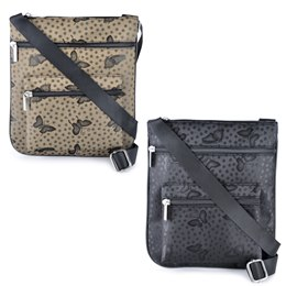 BB0741 LADIES BUTTERFLY JACQARD MESSENGER BAG