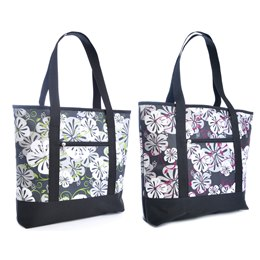 BB0826 HIBISCUS PRINT SHOPPER COOL BAG