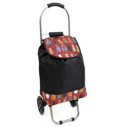 BB0882 CAT PRINT TROLLEY BAG