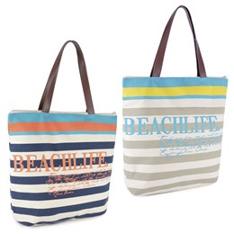 BB0994 'BEACH LIFE' PRINT WITH ROPE HANDLE