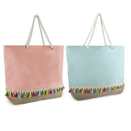 BB1010PW CANVAS BAG WITH TASSELS