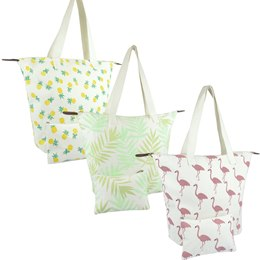 BB1023A 3 DESIGN COTTON BAG PLUS POUCH