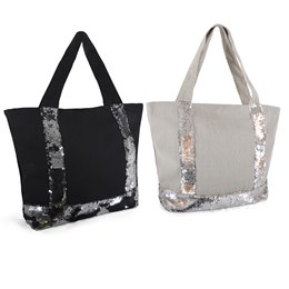 BB1035 CANVAS BAG WITH MERMAID SEQUIN