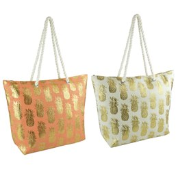 BB1058 PAPERSTRAW BAG WITH FOIL PRINTING AND ROPE HANDLES