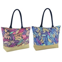 BB1068 COTTON PRINTED FLORAL BAG
