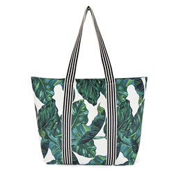 BB1117 CANVAS LEAF BAG WITH STRIPE HANDLES
