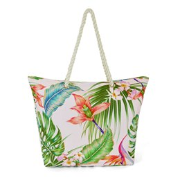BB1123 CANVAS BAG WITH FLORAL PRINT