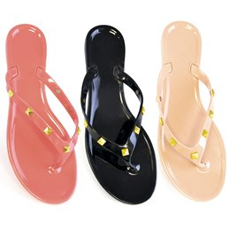 FT0773 LADIES STUDDED STRAP  JELLY SANDAL