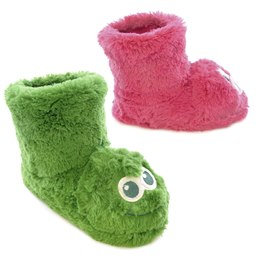 FT0792 GIRLS MONSTER AND PIG NOVELTY BOOTEE