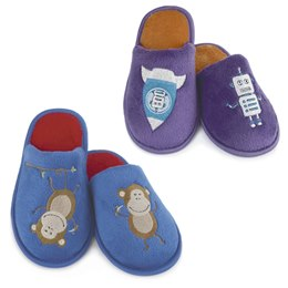 FT0928 BOYS EMBROIDERED MULE SLIPPERS