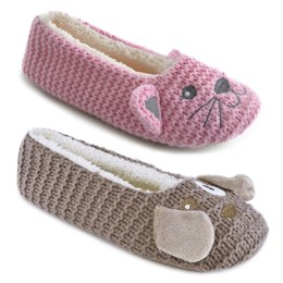 FT1055 CAT/DOG KNITTED BALLET SLIPPER