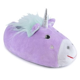 FT1074LC GIRLS UNICORN SLIPPER  (LILAC)