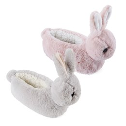 FT1221A GIRLS BUNNY HEAD SLIPPER