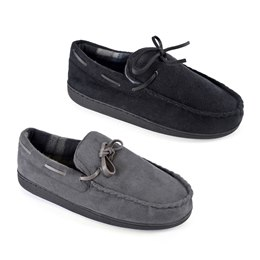 FT1381 MENS POLYSUEDE MOCCASIN