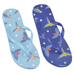 FT1495 LADIES PARROT PRINT FLIP FLOP