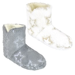 FT1539 LADIES FOIL STAR BOOTEE
