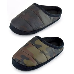 FT1747 KIDS CAMO PUFFER SLIPPER