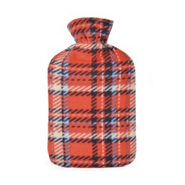 HH0211A 2 LITRE CHECK FLEECE HOT WATER BOTLE