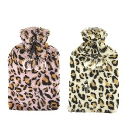HH0275 LEOPARD PRINT  2 LITRE HOT WATER BBOTTLE