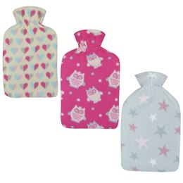 HH0277 2 LITRE STAR  HEARTS AND OWL  FLEECE HWB