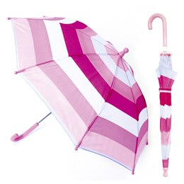 UU0005PK KIDS  STRIPED UMBRELLA IN PINK