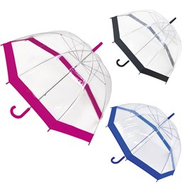 UU0044C LADIES CLEAR DOME UMBRELLA