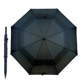 UU0066B BLACK 30'' auto golf umbrella with fibre glass shaft
