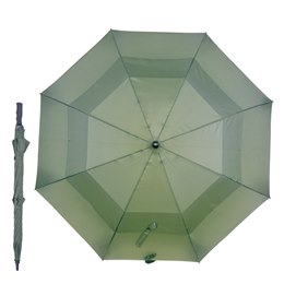 UU0066GR GREEN 30'' auto golf umbrella with fibre glass shaft
