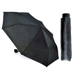 UU0072 BLACK 19.5'' SUPER MINI UMBRELLA WITH MATCHING SLEEVE