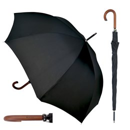UU0101 MEN'S WALKING UMBRELLA WITH WOODEN HANDLE