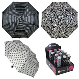 UU0118A Black and white prints umbrella in CDU (48)