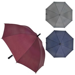 UU0123F 28'' ASSTD COLOUR  WALKING UMBRELLA WITH STRAIGHT HANDLE PACKED