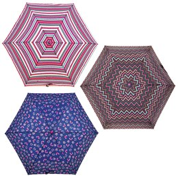 UU0188 ASSTD OWL-ZIG ZAG-STRIPE FASHION PRINTS UMBRELLA