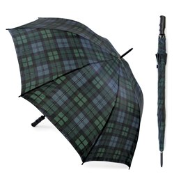 UU0264 BLACK WATCH TARTAN AUTO OPEN GOLF UMBRELLA