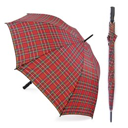 UU0265 ROYAL STEWART TARTAN AUTO OPEN GOLF UMBRELLA